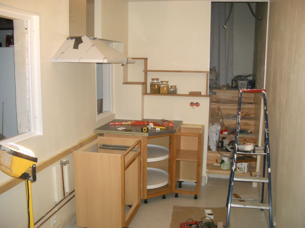 Element bas de cuisine avec plan de travail grassement - Meuble bas de cuisine avec plan de travail ...